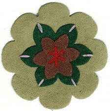 """2 1/2"""" Peasant Olive Green Brown Suede flower patch"""