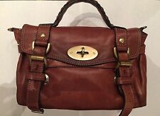 Mulberry Mini Alexa, Soft Buffalo/Tan Satchel