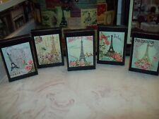 Paris wall decor 5 Eiffel Tower shelf sitter signs shabby French cottage chic
