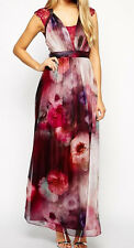 LITTLE MISTRESS * SIZE 10 * WATERCOLOUR FLORAL  RED MAXI DRESS * BNWT