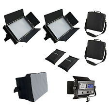 3 X 576 asvl Bi-color Regulable LED Luz de Video panel LCD V-Mount Super Barndoor qua
