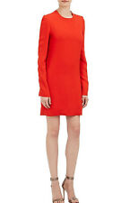 ~$2.6K VICTORIA BECKHAM RED LONG SLEEVE CUT OUT BACK DRESS (OMG!) ~ 42 / US 6