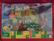 2001 Barbie Stacie Kelly Let's Camp Gift Set In Original Unopened Package