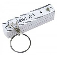 ROLSON 0.5m FOLDING RULER WITH KEY RING - GRADUATION MARKINGS IN METRIC * 50810