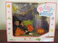 BABY BORN MINI WORLD HALLOWEEN BABY DOLL SET BY ZAPH CEATIONS  NEW IN BOX