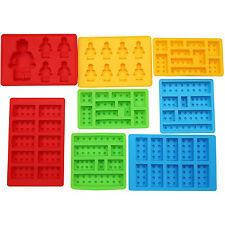 LEGO Silicone Ice Cube Trays Baking Chocolate Jelly Candy Ice Cube Molds 8 pc
