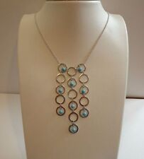 925 STERLING SILVER MULTI-STRAND TURQUOISE BEAD NECKLACE PENDANT / NEW DESIGN!!