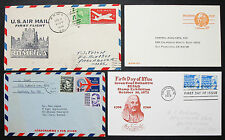 US Airmail First Flight Postage Set of 4 Covers Letters Lupo USA Briefe (H-8362