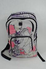 New Large Womens ROXY Laptop Grey Purple Pink Backpack Book Bag Girls