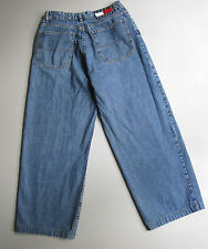 Vintage 90s High Waisted Jeans Wide Straight Leg Blue 10 Denim 28""