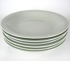 6x Fürstenberg Porzellan Suppenteller Seladon-Grün Wilhelm Wagenfeld Design +
