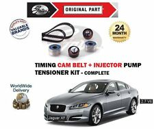 FOR JAGUAR XF 2.7D DIESEL 2007-2015 NEW TIMING CAM + INJECTOR BELT TENSIONER KIT
