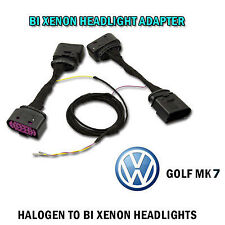 VW GOLF MK 7 BI XENON HEADLIGHT - ADAPTER WIRING HARNESS FACELIFT RETROFIT