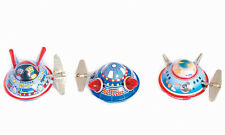 New collectable retro tin metal toy wind UFO / Spaceship set of 3