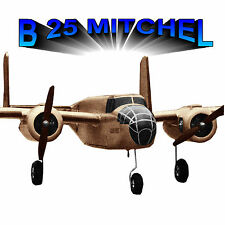 "MODEL AIRPLANE PLANS RADIO CONTROL SPAN 48"" TWO 1/2 A ENG B 25 A MITCHEL PLANS"