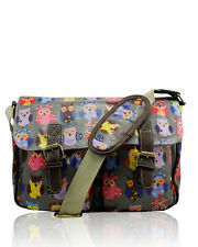 Ladies Girls Satchel OWL Waterproof Cross Body Shoulder Hand Bag School(OAL2)