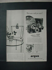 1952 Argus C3 Camera 'What more could you want' Vintage Print Ad 11171