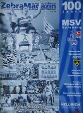 Programm 2002/03 MSV Duisburg - Alemannia Aachen