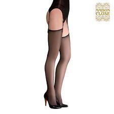 Lingerie Sexy Femme Bas voile - Les Coquetteries Noir Taille 4 - MAISON CLOSE