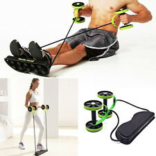 Abdominal AB Roller Waist Wheel Handle Workout Machine Home Gym Fitness Exercise
