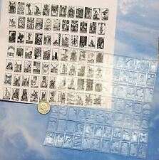 UM set 78 small Tarot Card rubber stamps complete deck