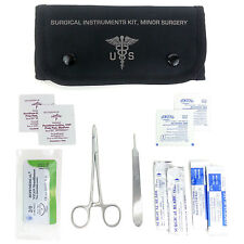 Army Suture & Scalpel Kit - Surgical Instruments -BLK - Military First Aid #FA10