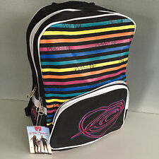 BNWT Girls Wavezone Brand Full Size 3 Compartment Black School Backpack Bag