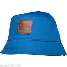 Large Adidas Bucket Hat NEW Originals Trefoil Blue Mens