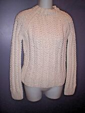 J CREW Hand knitted Chunky Ivory Sweater ~S~ Cotton blend