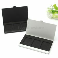Portable Mini Aluminum Memory Card Case Box Holders For 3PCS SD/SDHC/MMC TF Card