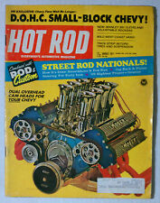 HOT ROD MAGAZINE VINTAGE 1971 AUGUST MOSER DOHC V8 CHEVY FORD MOPAR GM RACING