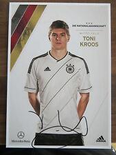 Handsignierte AK Autogrammkarte *TONI KROOS* DFB Deutschland EM 2012
