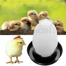 Chicken Quail Poultry Bird Pheasant Feed Drink Water Tool Automatic Feeder 250ml