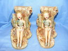 Pendelfin Stoneware Fairy Bookends Made In Burnley Very Rare Collectable