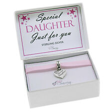 925 Sterling Silver Special Daughter Charms Bead Gift Boxed For Charm Bracelets
