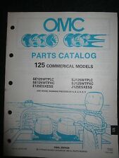 1990 OMC Johnson Evinrude Outboard Parts Catalog Manual 125 HP Commercial