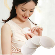 4PCS Bamboo Reusable Breast Pads Nursing Maternity Organic Plain Washable WK