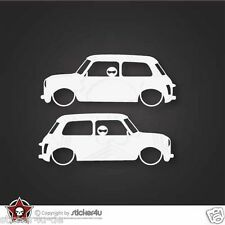 (722) 2x Low and Slow Mini Cooper Classic  Sticker Aufkleber Stickerbomb