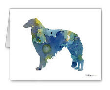 BLUE BORZOI note cards by watercolor artist DJ Rogers