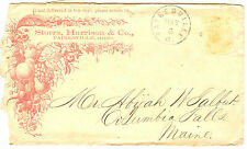 19th century Painesville OH Ohio Storrs Harrison seed Co envelope
