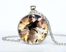 Star Wars Photo Cabochon Glass Tibet Silver Chain Pendant Necklace AAA38
