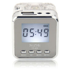 TT028 Portable Mini Speaker Music MP3 Player Micro SD/TF USB FM Radio Silver