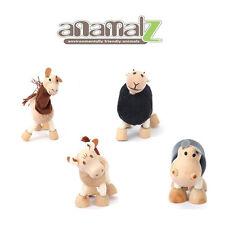 Bull-Hippo-Antelope-Llama All Natural Anamalz Toy Farm Animals 4PCS New