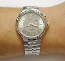 Orient Calendar Automatic Date Day Mens Watch. 21 jewels. All stainless steel