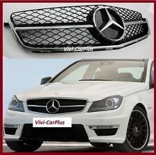 12-14 Mercedes-Benz W204 C Class C200 C300 as C63 Look Front Grille Gloss Black