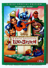 Disney Lilo & Stich and Stitch Has a Glitch Hawaiian 2 Movie DVD & Blu-ray Pack