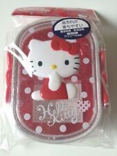 Hello Kitty, Bento,Plastic lunch box, Red,White,Sanrio, Made in Japan,360 ml,F/S