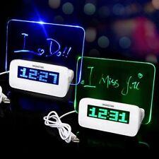 LED Nachtlicht Fluoreszierende Digital Wecker Uhr Kalender Alarm Clock Geschenk