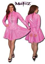 Misfitz deluxe hot pink PVC padlock restraint strait jacket maids dress,size 22