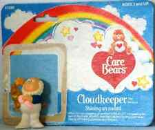 1984 CLOUDKEEPER Care BEARS Resin FIGURE with Shining Award + ORIGINAL CARD